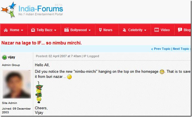 IF Nimbu Mirchi